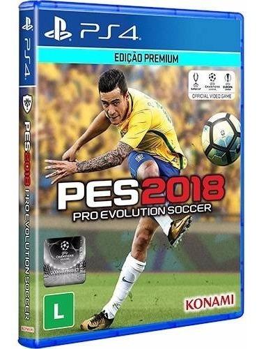 Jogo Mídia Física Pro Evolution Soccer 2018 Pes 2018 Pra Ps4