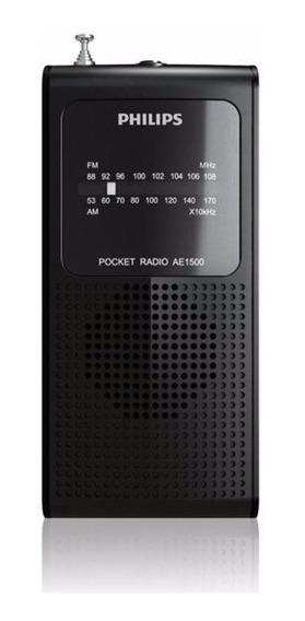 Rádio Philips Portátil Am/fm Ae-1500 Preto + Nota Fiscal