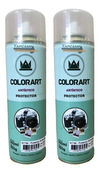 02 Verniz Spray Protector Brilhante Foto Gravura Papel Gesso