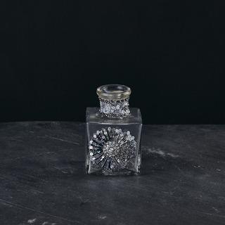 Botella Raipur Cuadrada Okko Vidrio Dorado