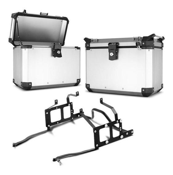 Bau Lateral Side Case Roncar 33 Litros + Suporte Ténéré 660