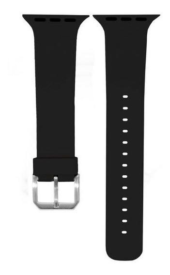 Banda De Silicona Para Apple Watch 42mm Negro