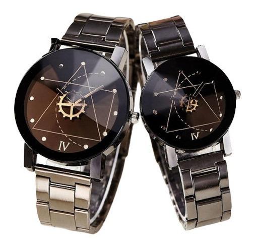 Duo 2 Relojes Parejas Enamorados Novios De Lujo Moda