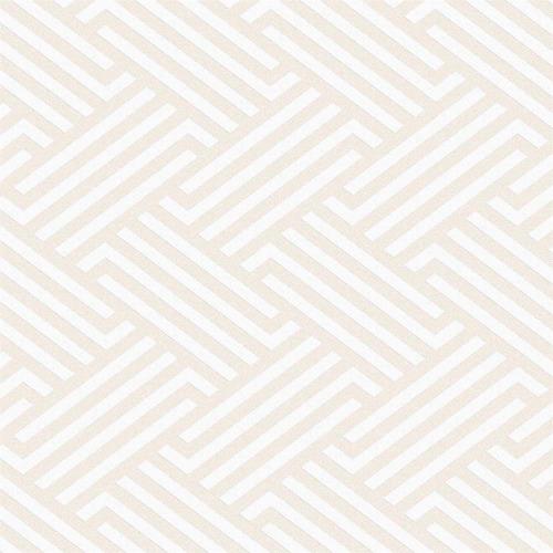 Imagem 1 de 2 de Papel De Parede Geométrico 100x52cm Bege
