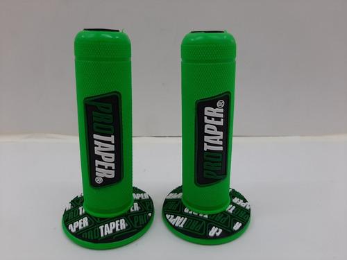 Puños De Moto Pro Taper En Color Verde Con Negro