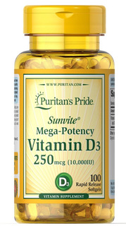 Vitamina D3 10.000 Ui Puritan