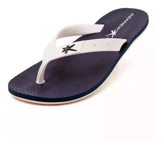Sandália Kenner Summer Torcida Hat 7 Azul Com Branca