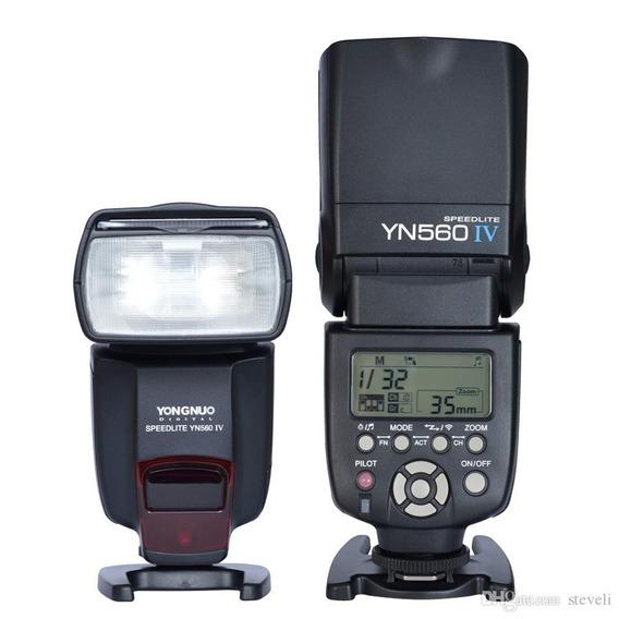 Flash Yongnuo Yn 560 Iv Para Canon E Nikon - Versão 2018 V4