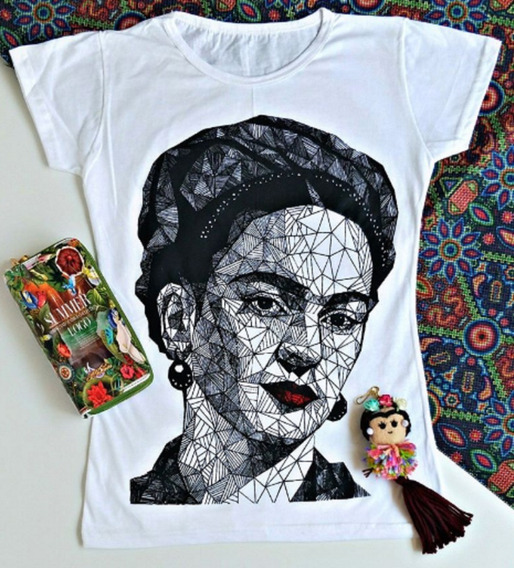 Playera De Aldodon Frida Kahlo Para Dama Mujer
