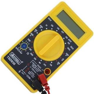 Multímetro Digital Con Pantalla Lcd Tester Batería Y Diodos