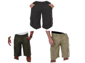 Bermuda Shorts Masculina Reforçada Em Rip Stop Cores Lisa