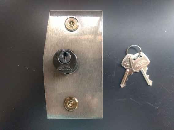 3210 - Fechadura Para Porta De Abrir Bronze Vidro Temperado