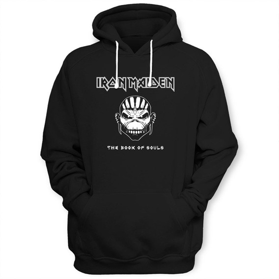 Sudadera Iron Maiden Con Gorro Y Bolsas Al Frente