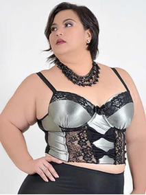 Sutiã Cropped Plus Size Do Tam 46 Ao 60