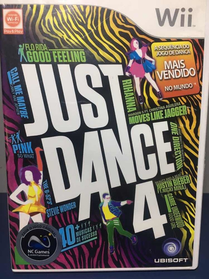 Just Dance 4 - Jogo Para Nintendo Wii Seminovo - Rf233