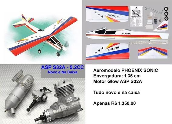 Aeromodelo Sonic Asa Alta + Motor Glow