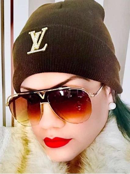 Óculos De Sol Louis Vuitton Com Touca De Frio