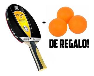 Paleta Tenis Mesa Sunflex Expert A30 + Regalos Ping Pong