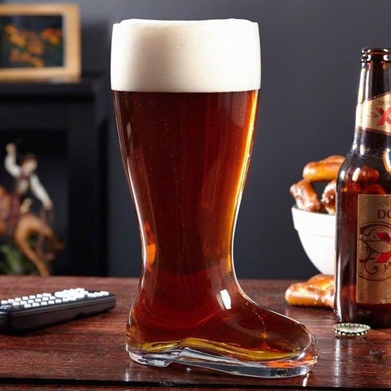 Vaso Bota Chopp Para Cerveza 500ml Vidrio En Urquiza