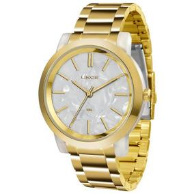 Relógio Feminino Lince Acrílico Lrt613p B1kx Dourado