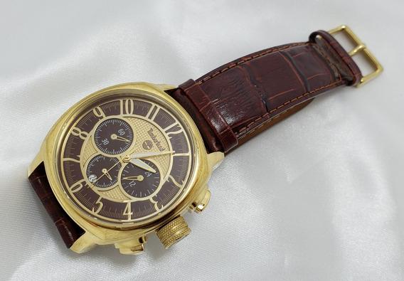 Relógio Masculino Timberland Cronógrafo Folheado A Ouro