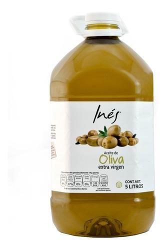 Aceite De Oliva Extra Virgen 5 Litros Marca Ines