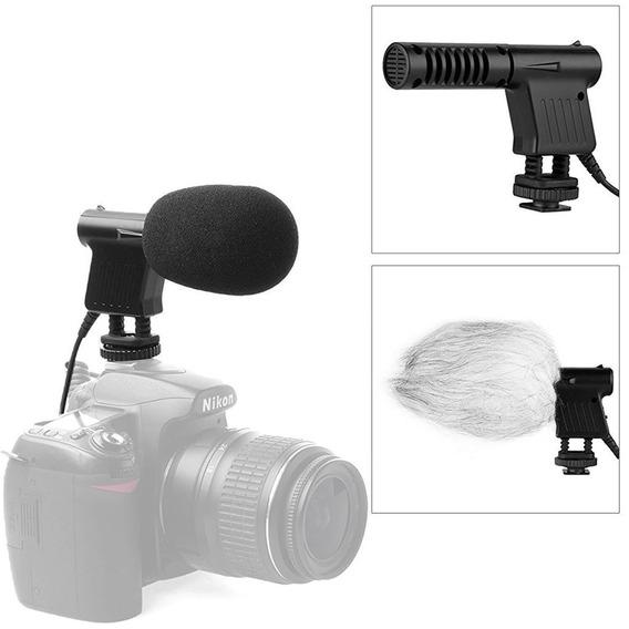 Microfone Shotgun Boya By-vm01 Unidirecional Para Câmeras Dslr E Filmadoras Boya