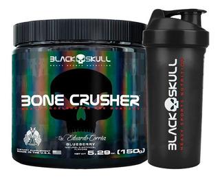 Pré Treino - Bone Crusher - 30 Doses + Shaker - Black Skull