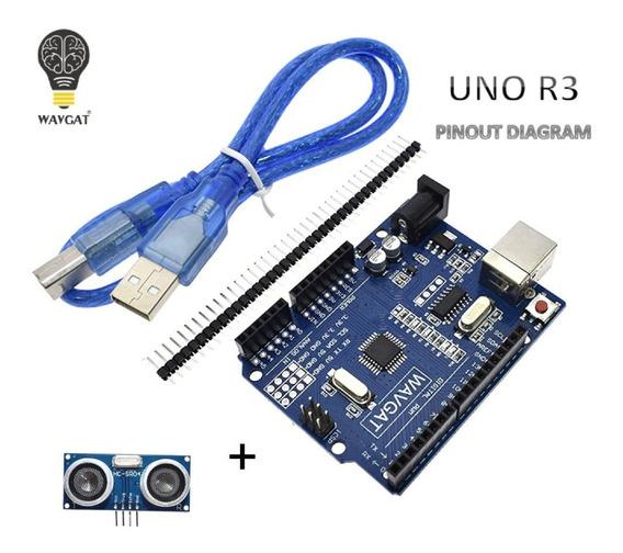 Arduino Uno Wavgat R3 Atmega 328p + Sensor Ultrasonico