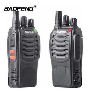 Kit 2 Radio Comunicador Walk Talk Baofeng 888s Longo Alcance