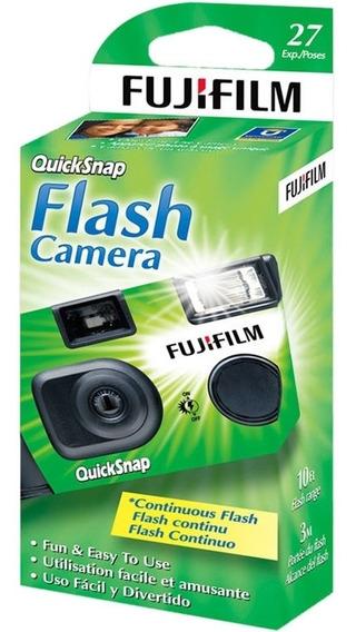 Cámara Desechable Fujifilm Quicksnap Super 400 Con Flash
