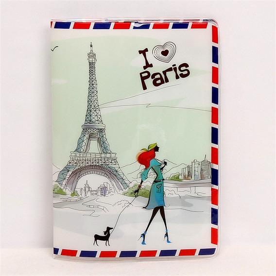 Capa Passaporte I Love Paris Torre Eiffel World Trip Cartão