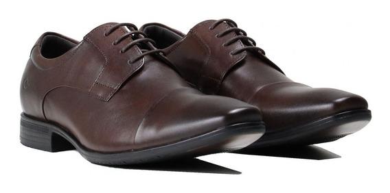 Sapato Masculino Democrata Air Class Couro Marrom 167103-004