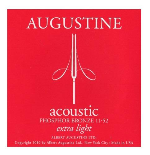 Imagen 1 de 3 de Encordado Acústica Augustine Phosphoro Bronze 11 47 Acero
