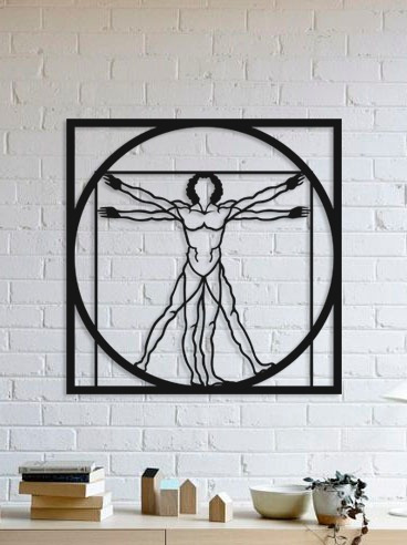 Imagem 1 de 2 de Quadro Decorativo Parede Diversos Homem Vitruviano 90cm