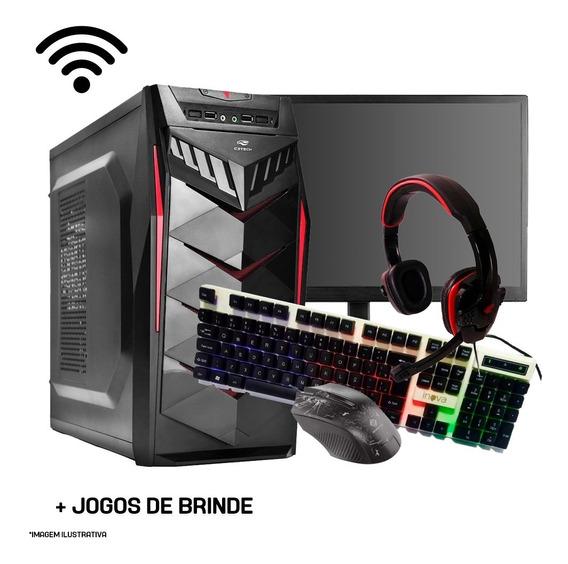 Pc Gamer I5-4590 Completo 8gb, Monitor, Kit Game, Jogos, Wif