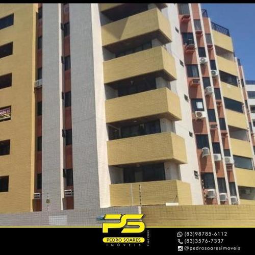 Apartamento Com 3 Dormitórios À Venda, 105 M² Por R$ 490.000 - Intermares - Cabedelo/pb - Ap3481
