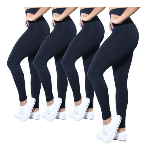 Kit 4 Calça Leggings Cintura Alta #varias Cores #yoga