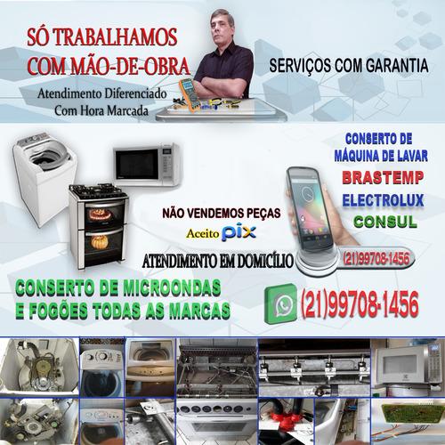 Imagem 1 de 5 de Conserto De Máquina De Lavar, Forno De Microondas E Fogões