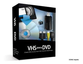 Kit Conversor Fita Vhs Para Dvd Captura Digital + Video Aula