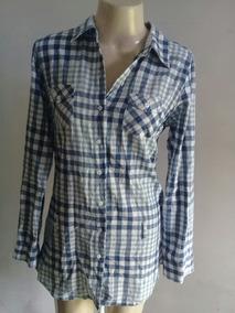 2e1349dbf Camisa Feminina Xadrez Blue Steel Tam G