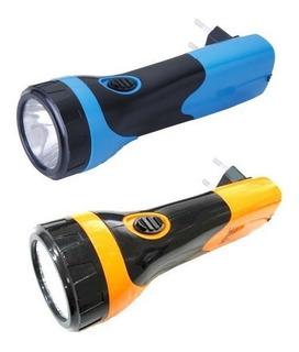 Kit 2 Lanterna Recarregável Super Led Brilho Holofote Bivolt
