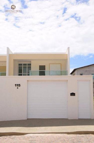 Casa Duplex Nova De Alto Padrão Com 4 Dormitórios À Venda Ou Aluguel, 183 M²- Precabura - Eusébio/ce - Ca0094