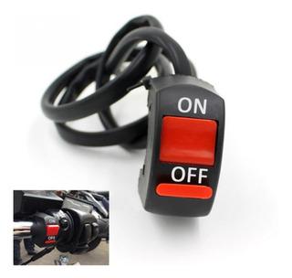 Switch Para Manubrio De Motocicleta 7/8 Faros Estrobos Leds