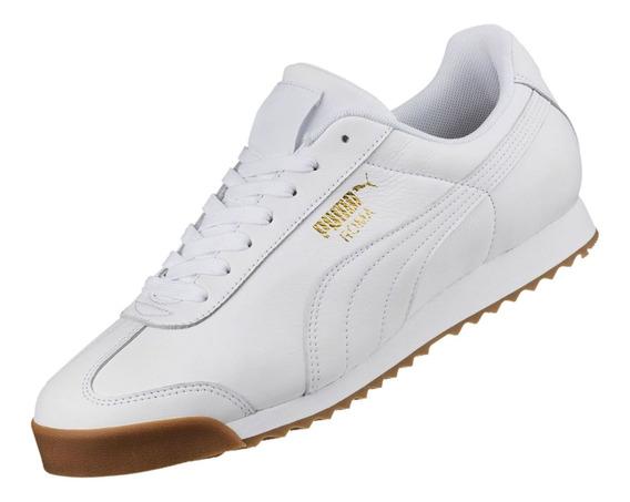 Zapatilla Puma Roma Para Hombre - Blanco