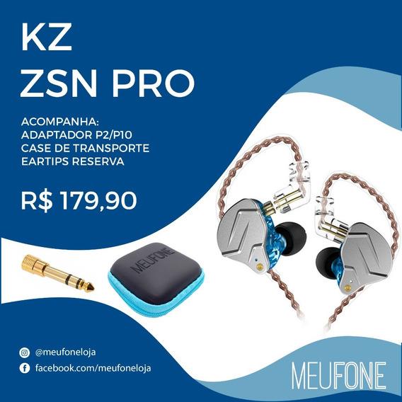 Fone Kz Zsn Pro Azul
