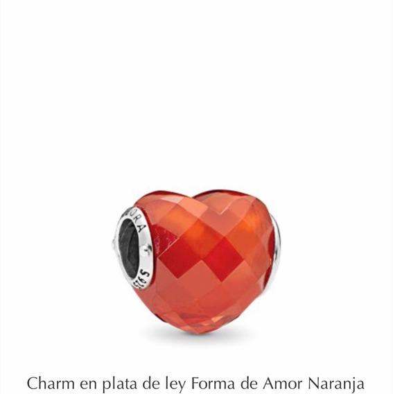 Pandora Charms Corazón Naranja 100 Modelos