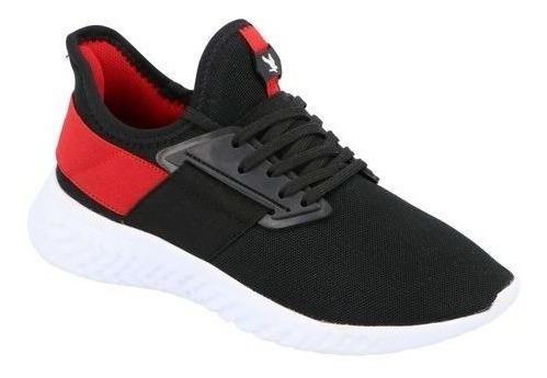 Tenis Deportivo Hombre Negro/rojo M617497