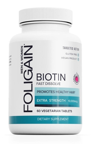 Imagen 1 de 4 de Cabello Hermoso Increíble Biotina  10,000  60 Tabletas