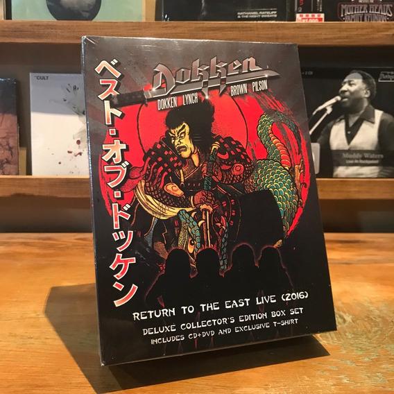 Dokken Return To The East Live (2016) Cd Dvd Remera Xl